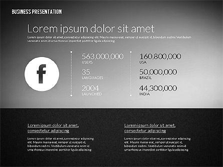 Business Presentation in Modern Flat Style, Slide 11, 02305, Presentation Templates — PoweredTemplate.com