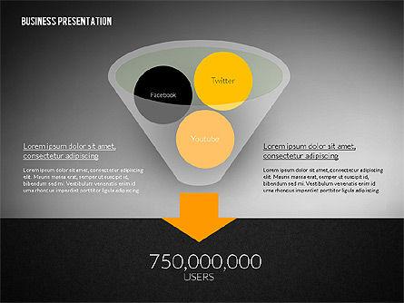 Business Presentation in Modern Flat Style, Slide 12, 02305, Presentation Templates — PoweredTemplate.com