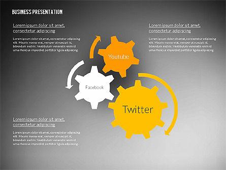 Business Presentation in Modern Flat Style, Slide 13, 02305, Presentation Templates — PoweredTemplate.com