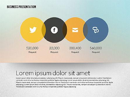 Business Presentation in Modern Flat Style, Slide 2, 02305, Presentation Templates — PoweredTemplate.com