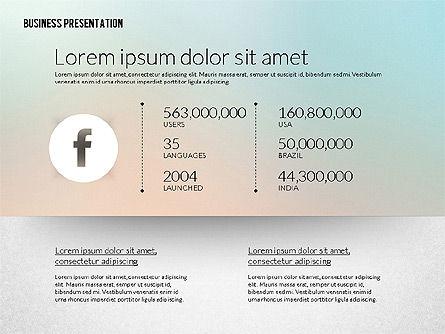 Business Presentation in Modern Flat Style, Slide 3, 02305, Presentation Templates — PoweredTemplate.com