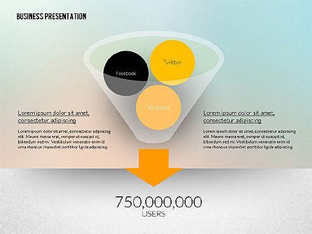 Business Presentation in Modern Flat Style, Slide 4, 02305, Presentation Templates — PoweredTemplate.com