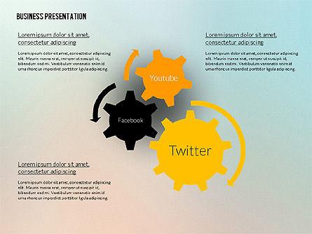 Business Presentation in Modern Flat Style, Slide 5, 02305, Presentation Templates — PoweredTemplate.com