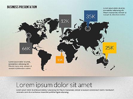 Business Presentation in Modern Flat Style, Slide 7, 02305, Presentation Templates — PoweredTemplate.com
