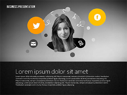Business Presentation in Modern Flat Style, Slide 9, 02305, Presentation Templates — PoweredTemplate.com
