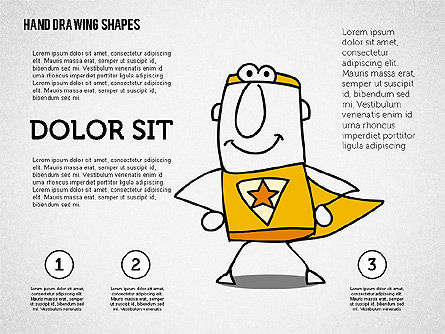 Super Hero Character, Slide 2, 02306, Shapes — PoweredTemplate.com