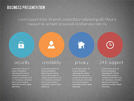 Modern Business Presentation in Flat Design, Slide 10, 02308, Presentation Templates — PoweredTemplate.com