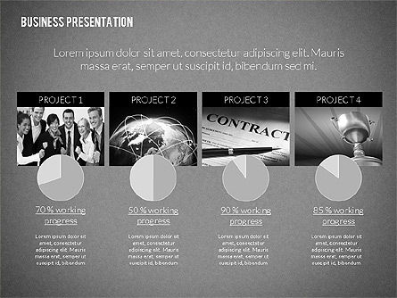 Modern Business Presentation in Flat Design, Slide 12, 02308, Presentation Templates — PoweredTemplate.com