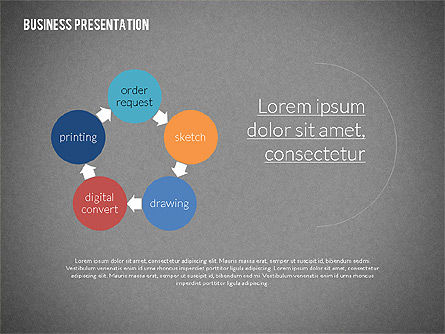 Modern Business Presentation in Flat Design, Slide 14, 02308, Presentation Templates — PoweredTemplate.com