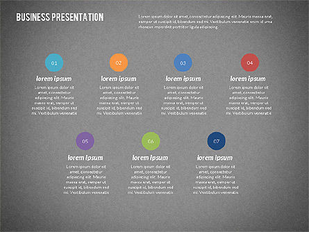 Modern Business Presentation in Flat Design, Slide 16, 02308, Presentation Templates — PoweredTemplate.com