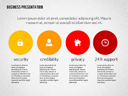 Modern Business Presentation in Flat Design, Slide 2, 02308, Presentation Templates — PoweredTemplate.com