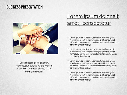 Modern Business Presentation in Flat Design, Slide 3, 02308, Presentation Templates — PoweredTemplate.com