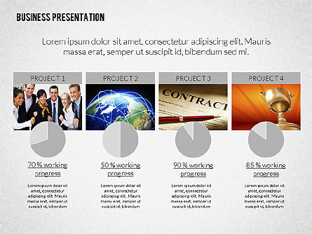 Modern Business Presentation in Flat Design, Slide 4, 02308, Presentation Templates — PoweredTemplate.com