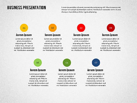 Modern Business Presentation in Flat Design, Slide 8, 02308, Presentation Templates — PoweredTemplate.com