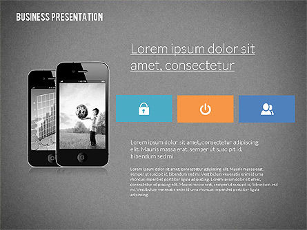 Modern Business Presentation in Flat Design, Slide 9, 02308, Presentation Templates — PoweredTemplate.com