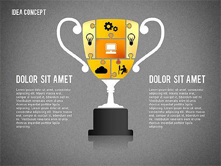 Successful Idea Concept, Slide 10, 02312, Presentation Templates — PoweredTemplate.com