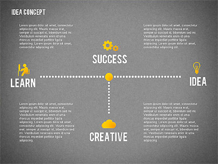 Successful Idea Concept, Slide 11, 02312, Presentation Templates — PoweredTemplate.com