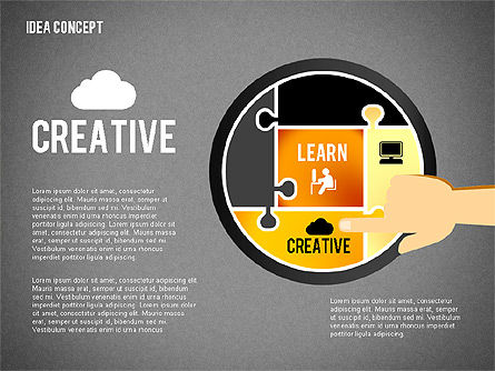 Successful Idea Concept, Slide 13, 02312, Presentation Templates — PoweredTemplate.com