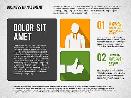 Business Management Presentation Template, 02314, Presentation Templates — PoweredTemplate.com