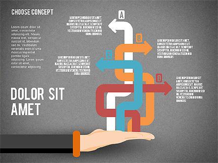Choice Concept, Slide 16, 02315, Stage Diagrams — PoweredTemplate.com