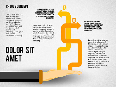 Choice Concept, Slide 6, 02315, Stage Diagrams — PoweredTemplate.com