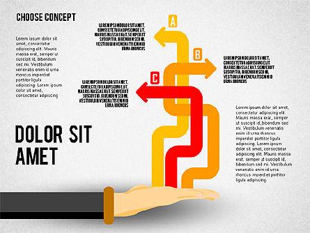 Choice Concept, Slide 7, 02315, Stage Diagrams — PoweredTemplate.com