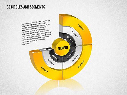 Business Models: 3d cirkels en segmenten toolbox #02316