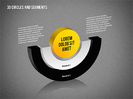 3D Circles and Segments Toolbox, Slide 10, 02316, Business Models — PoweredTemplate.com