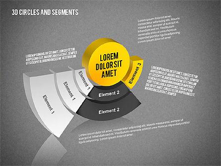 3D Circles and Segments Toolbox, Slide 11, 02316, Business Models — PoweredTemplate.com