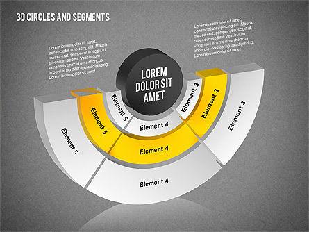 3D Circles and Segments Toolbox, Slide 12, 02316, Business Models — PoweredTemplate.com