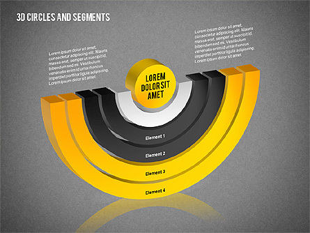 3D Circles and Segments Toolbox, Slide 13, 02316, Business Models — PoweredTemplate.com