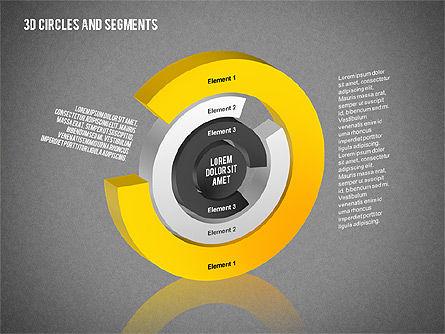 3D Circles and Segments Toolbox, Slide 14, 02316, Business Models — PoweredTemplate.com