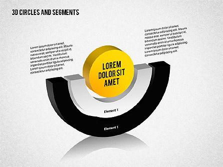 3D Circles and Segments Toolbox, Slide 2, 02316, Business Models — PoweredTemplate.com