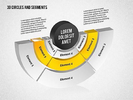 3D Circles and Segments Toolbox, Slide 4, 02316, Business Models — PoweredTemplate.com