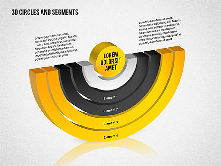 3D Circles and Segments Toolbox, Slide 5, 02316, Business Models — PoweredTemplate.com