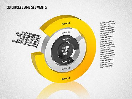 3D Circles and Segments Toolbox, Slide 6, 02316, Business Models — PoweredTemplate.com