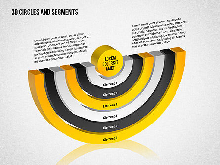 3D Circles and Segments Toolbox, Slide 7, 02316, Business Models — PoweredTemplate.com