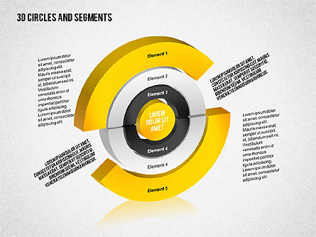 3D Circles and Segments Toolbox, Slide 8, 02316, Business Models — PoweredTemplate.com