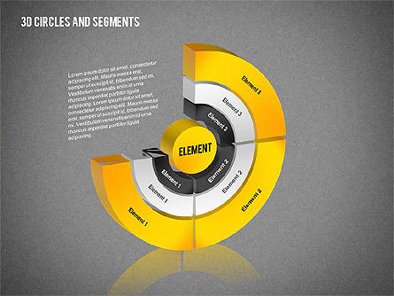 3D Circles and Segments Toolbox, Slide 9, 02316, Business Models — PoweredTemplate.com