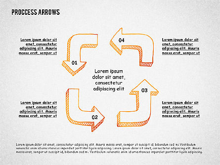 Process Diagrams: Process Arrows Toolbox #02318