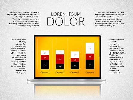 Presentation with Colorful Flat Shapes (data driven), 02319, Presentation Templates — PoweredTemplate.com