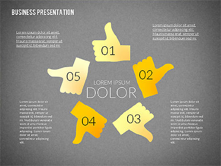 Presentation with Colorful Flat Shapes (data driven), Slide 10, 02319, Presentation Templates — PoweredTemplate.com