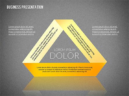 Presentation with Colorful Flat Shapes (data driven), Slide 11, 02319, Presentation Templates — PoweredTemplate.com