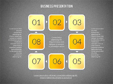 Presentation with Colorful Flat Shapes (data driven), Slide 12, 02319, Presentation Templates — PoweredTemplate.com