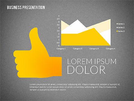 Presentation with Colorful Flat Shapes (data driven), Slide 13, 02319, Presentation Templates — PoweredTemplate.com