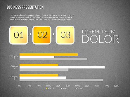 Presentation with Colorful Flat Shapes (data driven), Slide 15, 02319, Presentation Templates — PoweredTemplate.com