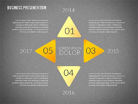 Presentation with Colorful Flat Shapes (data driven), Slide 16, 02319, Presentation Templates — PoweredTemplate.com