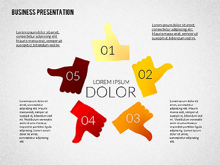 Presentation with Colorful Flat Shapes (data driven), Slide 2, 02319, Presentation Templates — PoweredTemplate.com