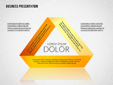 Presentation with Colorful Flat Shapes (data driven), Slide 3, 02319, Presentation Templates — PoweredTemplate.com