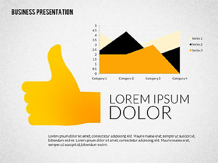 Presentation with Colorful Flat Shapes (data driven), Slide 5, 02319, Presentation Templates — PoweredTemplate.com